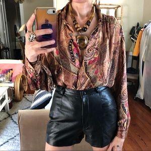 Vintage semi sheer paisley blouse